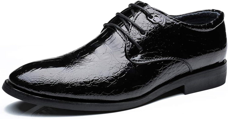 5cb7436b2b090 SRY-Fashion shoes Men's Business Oxford Casual Crocodile shoes ...