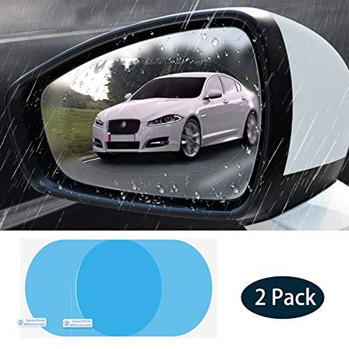 Car Rearview Mirror Film 4Pcs Clear Protective Sticker Film Car Side View Mirror Anti Fog Anti Glare Anti Scratch Anti Mis Rainproof Waterproof HD Nano for Car Mirrors, Side Windows and Safe Driving