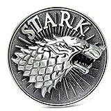 Hebilla para cinturón metálica con el lobo de los Stark de «Juego de tronos»