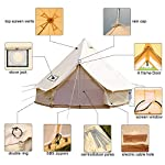Sporttent Camping 4 Season Waterproof Cotton Canvas Bell Tent with Stove Hole and Cable Hole 15