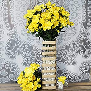 DN_HOM Wonderful 120 pcs Silk Gardenia Flowers for Wedding Centerpieces Arrangements Bouquets (Yellow)