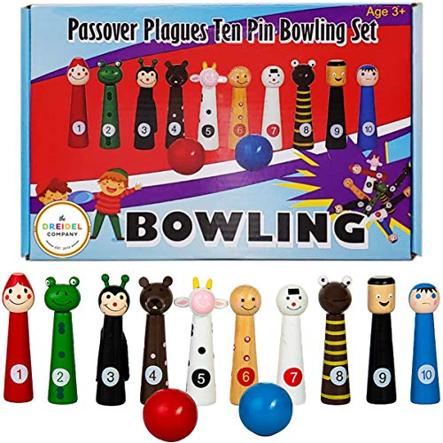 Bowling - Passover Plagues Ten Bowling Set - Fun Educational Toy for The Whole Family