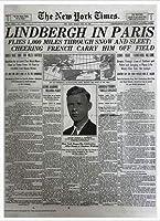ポスター ピーター リンドバーグ VISIONAIRE(ヴィジョネアー)チャールズ・リンドバーグ NYタイムズ1927年5月22日 額装品 アルミ製ハイグレードフレーム(ホワイト)