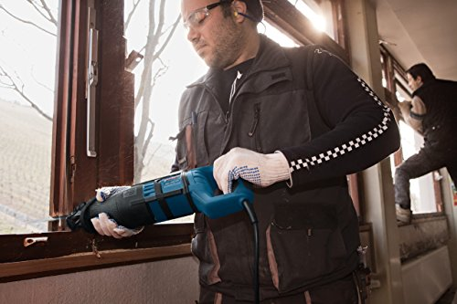 Bosch Professional  Säbelsäge GSA 1300 PCE mit SDS und Constant Electronic 2 Sägeblätter (Holz/Metall) Koffer (1.300 Watt Max. Schnitttiefe: 230 mm),Schwarz, Blau, Rot - 4