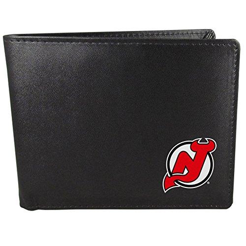 NHL Siskiyou Sports Mens New Jersey Devils Bi-fold Wallet One Size Black