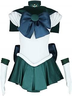 ANOTHERME Women's Costume Sailor Moon Michiru Kaioh Neptune Cosplay Outfit Uniform Dress Suit Female