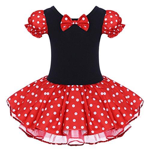 IBAKOM - Disfraz de princesa de manga corta para beb y nia, diseo de lunares, para cosplay, cumpleaos, disfraz de fiesta