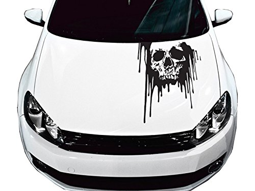 Universal Bloody Skull Truck or Car Hood Graphics Decal (Sk1418) 23'x35' FGD Brand