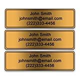 Personalized Golf Club Name Labels - Custom Printed on Heavy Duty PVC (Set of 15 Labels)