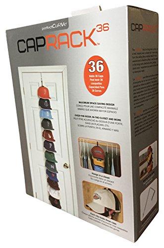CAPRACK Kappenhalter Basecap Aufbewahrung für Deine Baseball Caps (Schwarz 12 Clips mit Cap Buddy)