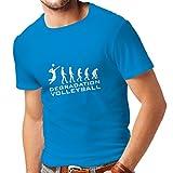 lepni.me Camisetas Hombre Degradación del Juego de Voleibol, Regalo de Humor para Jugadores de Deportes (X-Large Azul Blanco)