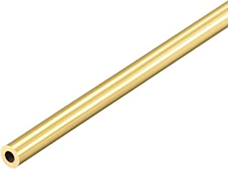 uxcell Brass Round Tube 300mm Length 6mm OD 1.5mm Wall Thickness Seamless Straight Pipe Tubing