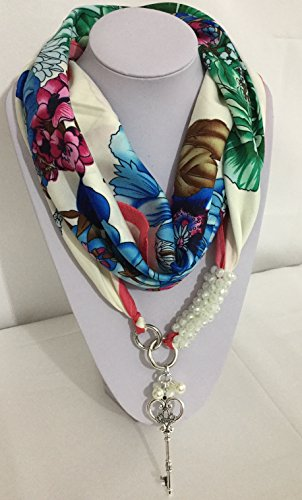 FOULARD HANDMADE JEWELRY MIXED SILK 30% MADE IN ITALY