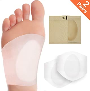 2 Pairs Arch Support Set, Professional Reusable Arch Sleeves, Best for Plantar Fasciitis and Flat Feet Used Arch Pain Relief, Arch Brace for Flat Feet for Men & Women.