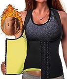 DZGN Pérdida Sauna Belt para las Mujeres Peso Ejercicio de la Cintura para las Mujeres Trainer Trainer Sauna Cintura para las Mujeres Sauna Traje para la Mujer de la Cintura Trainer Sauna sin,M
