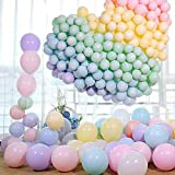 ourworld Bunt Luftballons Pastell, Latex Farbige Ballons, Macaron Luftballoons für Party Dekorative Ballons,Geburtstag Hochzeit Engagement Baby Dusche Farbe Zufällig(100 Stücke)