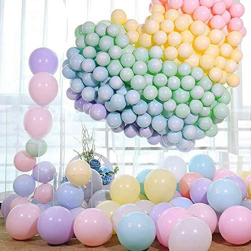 ourworld Bunt Luftballons Pastell, Latex Farbige Ballons, Macaron Luftballoons für Party Dekorative Ballons,Geburtstag Hochzeit Engagement Baby Dusche(100 Stücke)