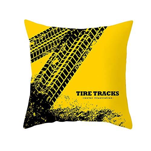 LIUXU Graffiti - Funda de almohada (microfibra, transpirable, antiarrugas, antiincrustante), color amarillo