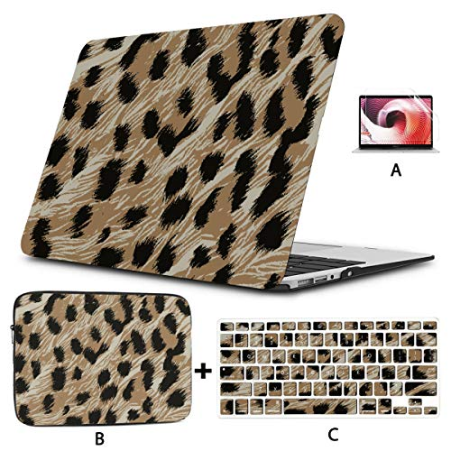 Macbook 15 Case Colorful Animal Leopard Print Macbook Air Hard Cover Hard Shell Mac Air 11'/13' Pro 13'/15'/16' With Notebook Sleeve Bag For Macbook 2008-2020 Version