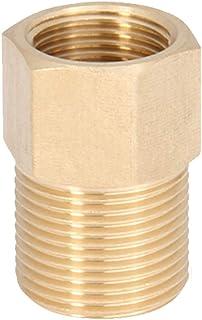 Honorall Conector rápido de mangueira de jardim Encaixes de mangueira de cobre para serviços pesados 3/8 pol 1/4 pol Mangueiras de água macho e fêmea sem vazamento Conectores de adaptador de conexã