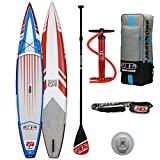 JBAY.ZONE Tabla de Stand Up Paddle Surf Sup Hinchable Modelo Rush CJ4 12'6'' de Cm 380x71x15 Racing Sup Board con Accesorios