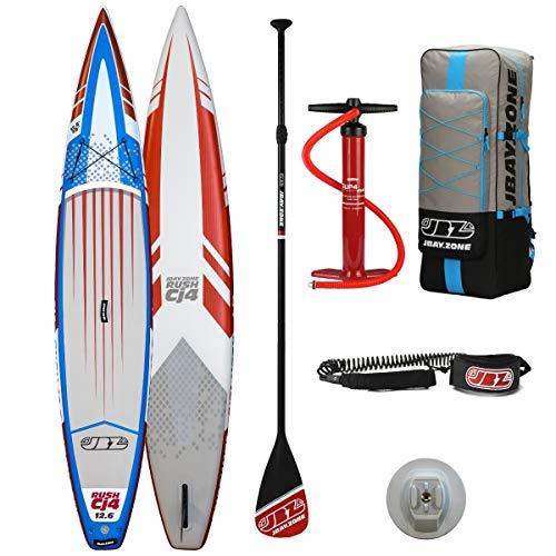 JBAY.ZONE Tabla de Stand Up Paddle Surf Sup Hinchable Modelo Rush CJ4 12'6'' de Cm 380x71x15 Racing Sup Board con Accesorios