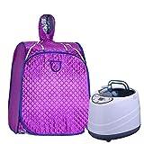 FHKL Tragbare Dampfsauna Faltbarer Dampfgarer 2 Liter Dampftopf - Home Sauna Meridian Dredge Erhöhen Sie Die Durchblutung Reduzieren Sie Müdigkeit,Purple -