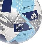 adidas MLS ClubSoccer Ball,White/Bright Cyan/Iron...