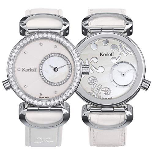 Korloff - Orologio reversibile con diamanti Cassiopee in acciaio inox LR2/4D