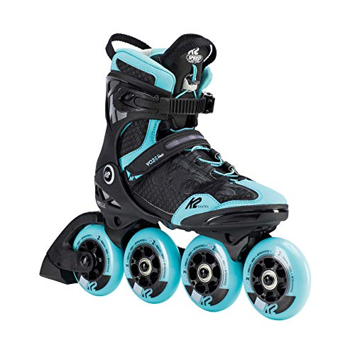 K2 Skates Damen VO2 S 90 PRO W Inline Skates, black-light blue, 40.5 EU (7 UK)