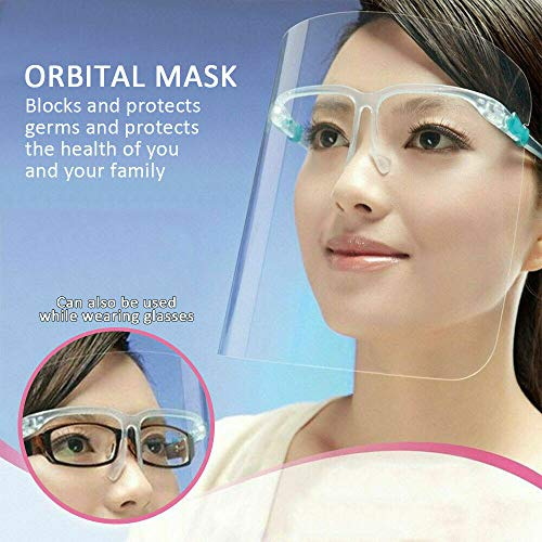 Yarnow 4 Pcs Kitchen Anti-Oil Splash Face Mask, Plastic Clear Shield Protector, Kitchen Cooking Masks for Safety Cooking Painting Plasterer, Random Colors