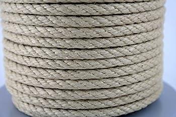 Corde en chanvre - Diamètre : 8 mm - Bobine de 100 m - 100 % polypropylène