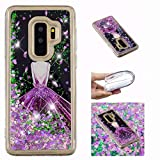 Galaxy 2018 A8 Duos Case, Glitter Flowing Floating Love