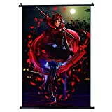 RubyRoseRWBY Japan Anime Fabric Wall Scroll Poster Size 30x45cm(12 x 18 in)