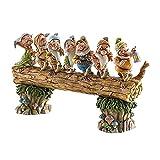 YEJIE Miniaturmodell Sieben Zwerggarten Statue Figur Bäume GNOME Skulptur Harz Ornamente Fit für Home Patio Yard Rasen Verandadekoration Dekorationsverzierungen (Color : Dark Khaki)