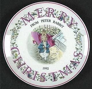 Wedgwood Peter Rabbit Christmas Plate 1992 (8
