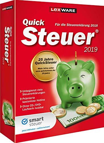 Lexware QuickSteuer 2019 für das Steuerjahr 2018|Minibox|Einfache und schnelle Steuererklärungs-Software für Arbeitnehmer, Familien, Vermieter, Studenten und Rentner