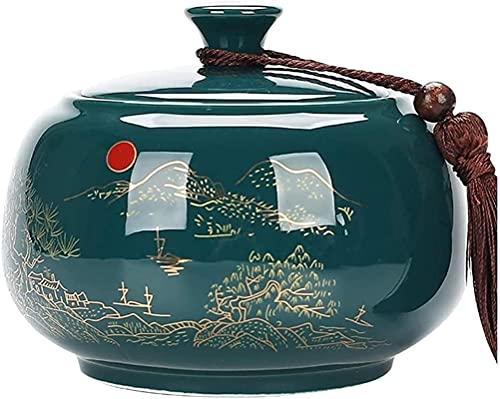 WHXL Teiera Allentata in Ceramica Coperchio ermetico teiera retrò Cinese Scatola di tè Creativa personalità Moda Scatola di tè in Ceramica
