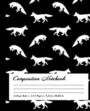 Fox Composition Notebook: Wide-Ruled, 7.5 x 9.25, 100 Pages, For kids, teens, and adults, Animals ,Fox