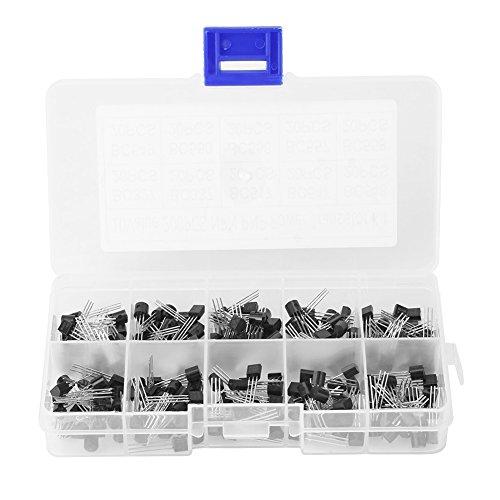 200 Stücke TO-92 Silizium NPN PNP Leistungstransistor Sortiment Kit Set mit Kunststoff Aufbewahrungsbox 10 Werte (BC327 BC337 BC517 BC547 BC548 BC549 BC550 BC556 BC557 BC558)