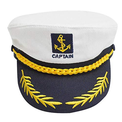 Nuluxi Kapitänsmütze Marine Mütze Kapitänsmütze Faschingskostüm Verstellbare Matrosen Mütze Geeignet für Verschiedene Mottopartys,Junggesellenabschiede und Urlaubsreisen Geeignet für Männer und Frauen