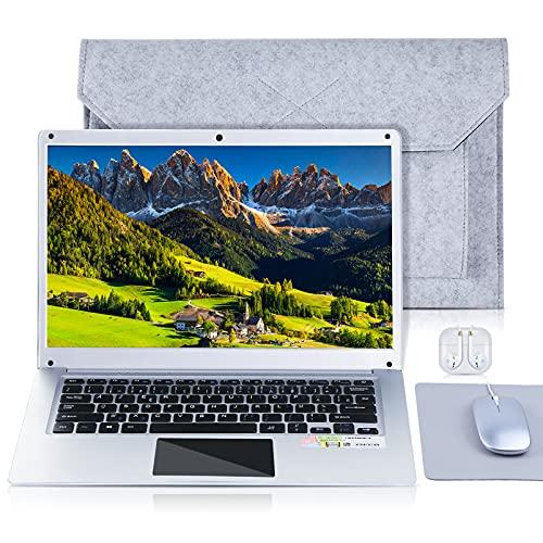 NBD NBook 14,1' Ordinateur Portable,4 Go RAM 64 Go Stockage Argent 1080P Full HD IPS Laptop Windows 10 Netbook AZERTY Clavier Français