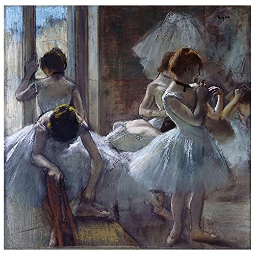 Legendarte Cuadro Lienzo, Impresión Digital - Bailarines Edgar Degas, cm. 90x90 - Decoración Pared