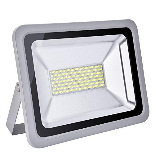 HimanJie 20W 30W 50W 100W 150W 200W 300W 500W LED Kaltweiß Wandstrahler Lampe Außenstrahler Aluminium Strahler Flutlicht 220V IP65(150W)