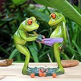 WMHF Happy Frog Paar Figuren Tier Miniatur Modell Home Decoration Zubehör Valentinstag Freund Geburtstagsgeschenk