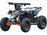 Sahara X Outdoor Kids Children 24V Black Mini Quad ATV Dirt Motor Bike Electric Battery Powered