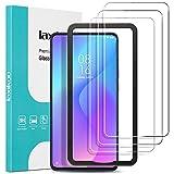 laxikoo 3 Pièces Verre Trempé pour Xiaomi Mi 9T, 9H Dureté Film Protection écran avec Cadre...