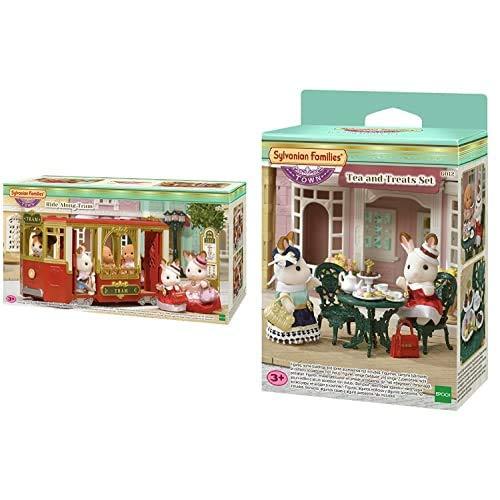 Sylvanian Families- Ride Along Tram Mini muñecas y Accesorios, Multicolor (Epoch para Imaginar) , Color/Modelo Surtido + - 6012 - Set de té y Aperitivo