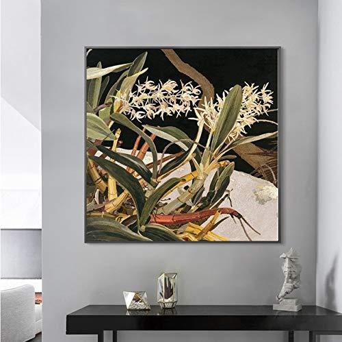 Rock Lilies Flower Poster Flower Art Vintage Dekor Einweihungsparty Geschenkidee Geburtstag Leinwand Malerei No Frame