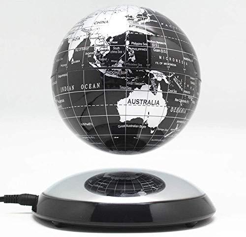 JYKFJ Levitación magnética Creativa de 6 Pulgadas Globo Flotante Mapa del Mundo Decoración de Escritorio Empresa navideña
